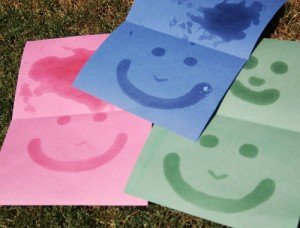 preschool paint name in sunscreen activity