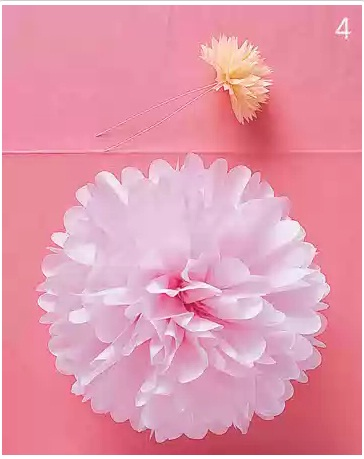 tissue paper ball Diy project: tissue paper pom-poms you can either make the ball one solid color by stacking 8-11 sheets of the same color tissueor it may be neat to stack 2.