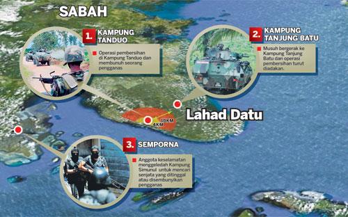 LAHAD DATU - Kumpulan pengganas Sulu Sultan Sulu Jamalul Kiram