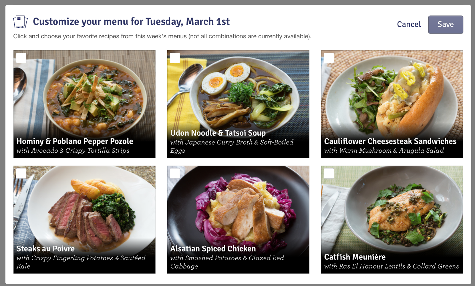 Blue apron udon catfish - If You Are Not A Vegetarian You Can See You Have More Meal Options To Choose From However You Can T Do Every Single Possible Combination Some