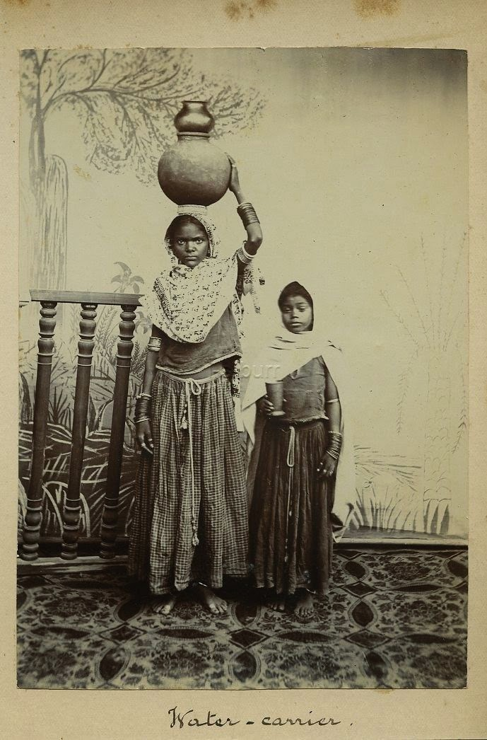 Indian Women Water Carrier - c1900's