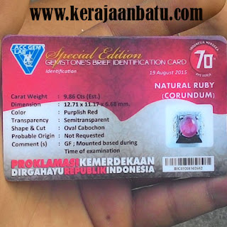 NATURAL RUBY CORUNDUM BERMEMO KODE KB227