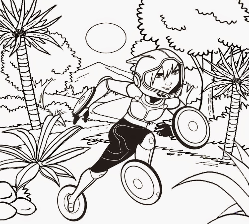 Kids Movie Action Gogo Tomago Champion Cartoon Disney Coloring Pages Big Hero 6 Characters To Color