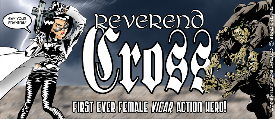 LINK to REVEREND CROSS print comics store!