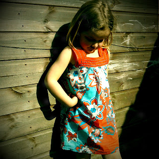 upcycled girls dress from adult top