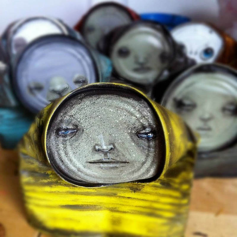 Arte em Latas Recicladas de My Dog Sighs