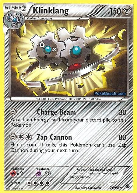 Klinklang Emerging Powers Pokemon Card Review