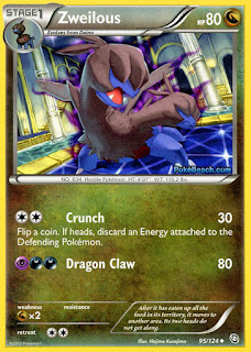 Zweilous Dragons Exalted Pokemon Card