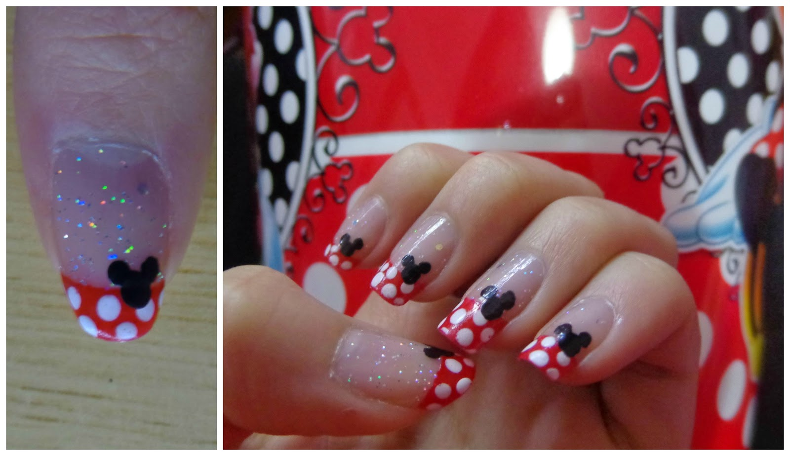 Uñas Disney de Mickey Mouse