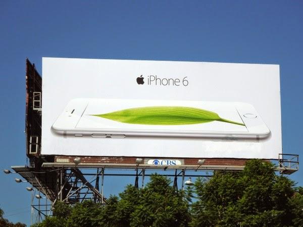 Apple iPhone 6 leaf billboard