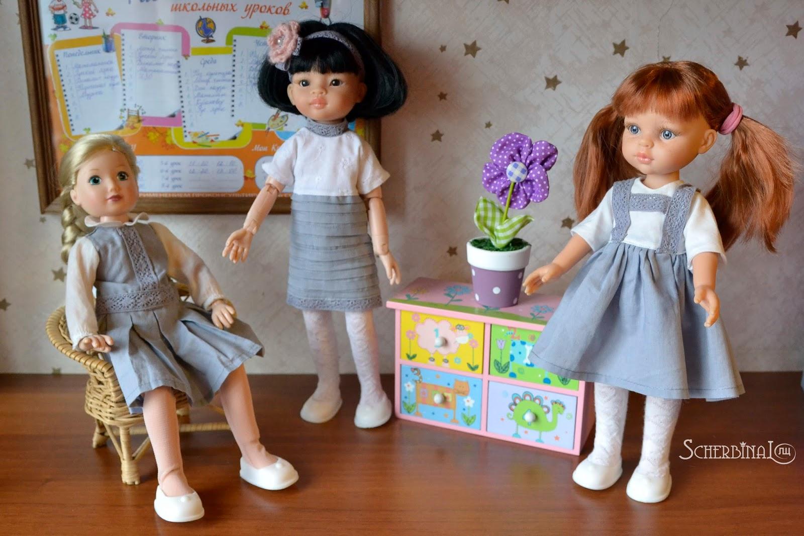 Игровые шарнирные куклы для девочек: Джолина Zapf Creation, Лиу и Кристи Paola Reina