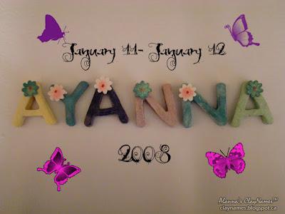 Ayanna January 11-12 2008 Claynames
