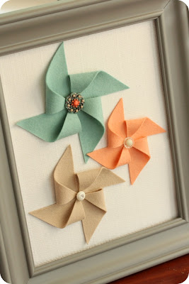 craft home decor: pinwheel pictures