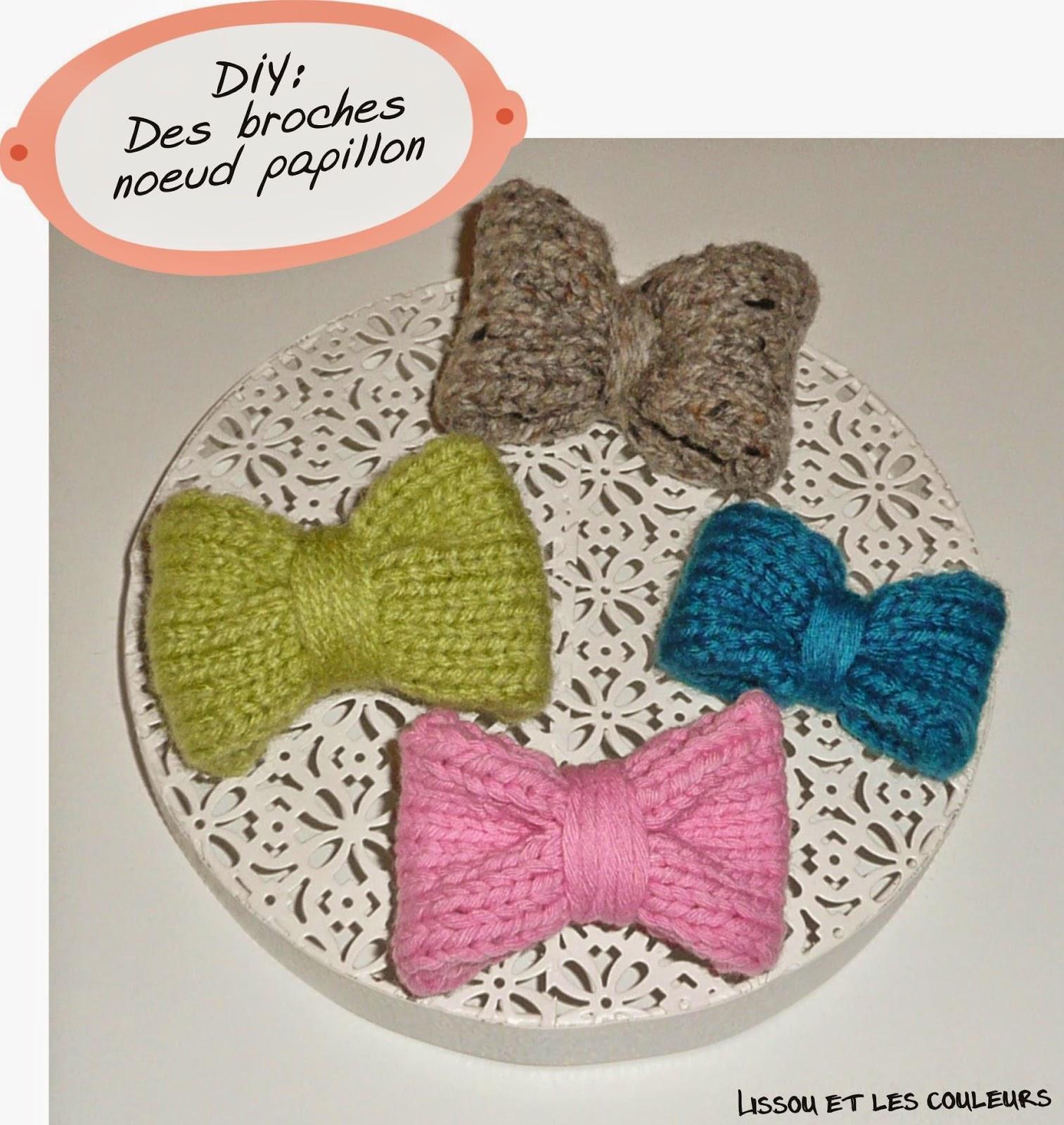 lissou et les couleurs diy tricoter des noeuds papillons. Black Bedroom Furniture Sets. Home Design Ideas