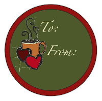 "To and From, 2 3/4"" lid label, ©Tina M Welter www.tinawelter.blogspot.com Use for a gift label on a standard size mason jar."