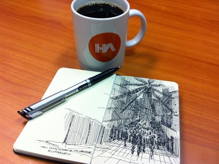 Desenho a mão livre - ferramenta essencial do arquiteto