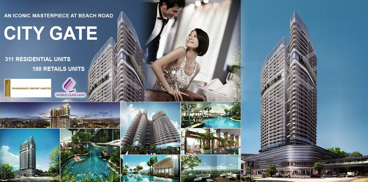 City Gate | Singapore Lastest Mixed Development at Beach Road | Condo & Retails
