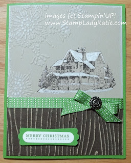 Card made with Core'dination paper and images from the Stampin'UP! stamp set: Christmas Lodge