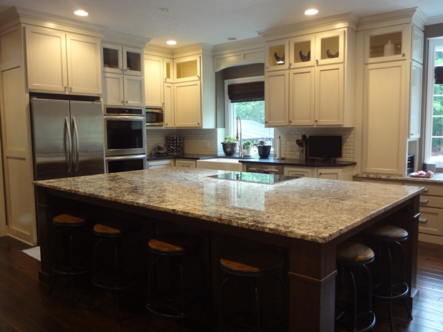 We were originally thinking Cambria countertops for the island, but there  would've been