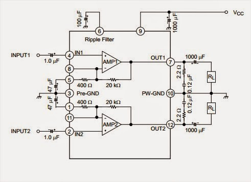 Dual Audio Power Amplifier