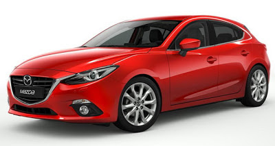 Imagine cu noul model Mazda3