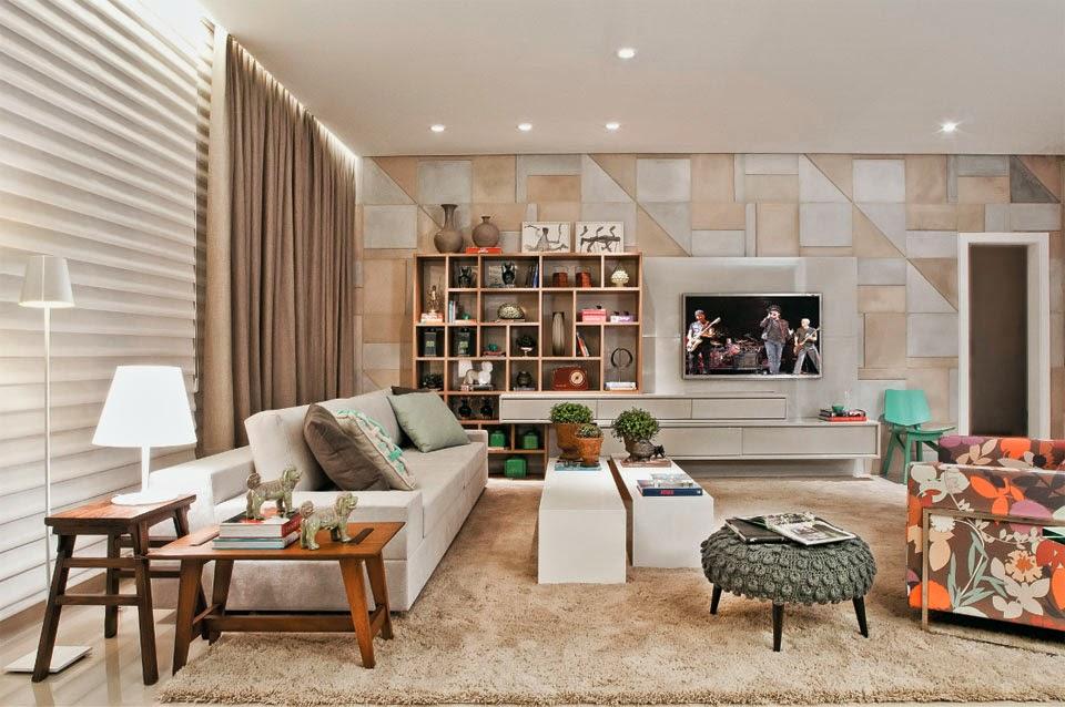 Paredes decoradas e diferentes veja 30 ideias timas for Adornos para paredes de salas