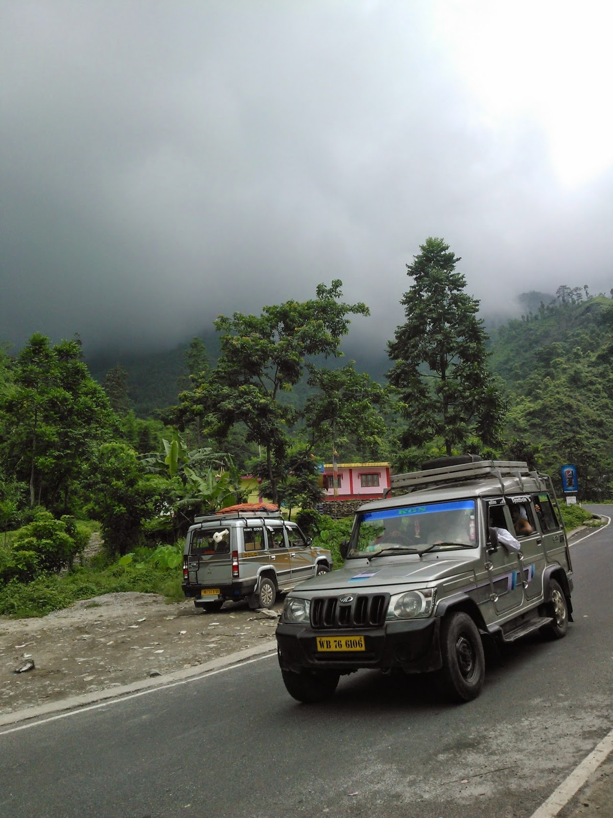 Road to Darjeeling during Monsoon