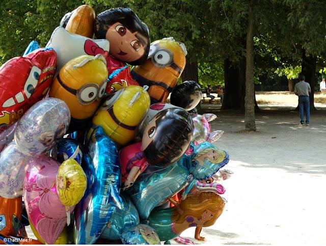ballons helium Bois de Vincennes paris 12ème