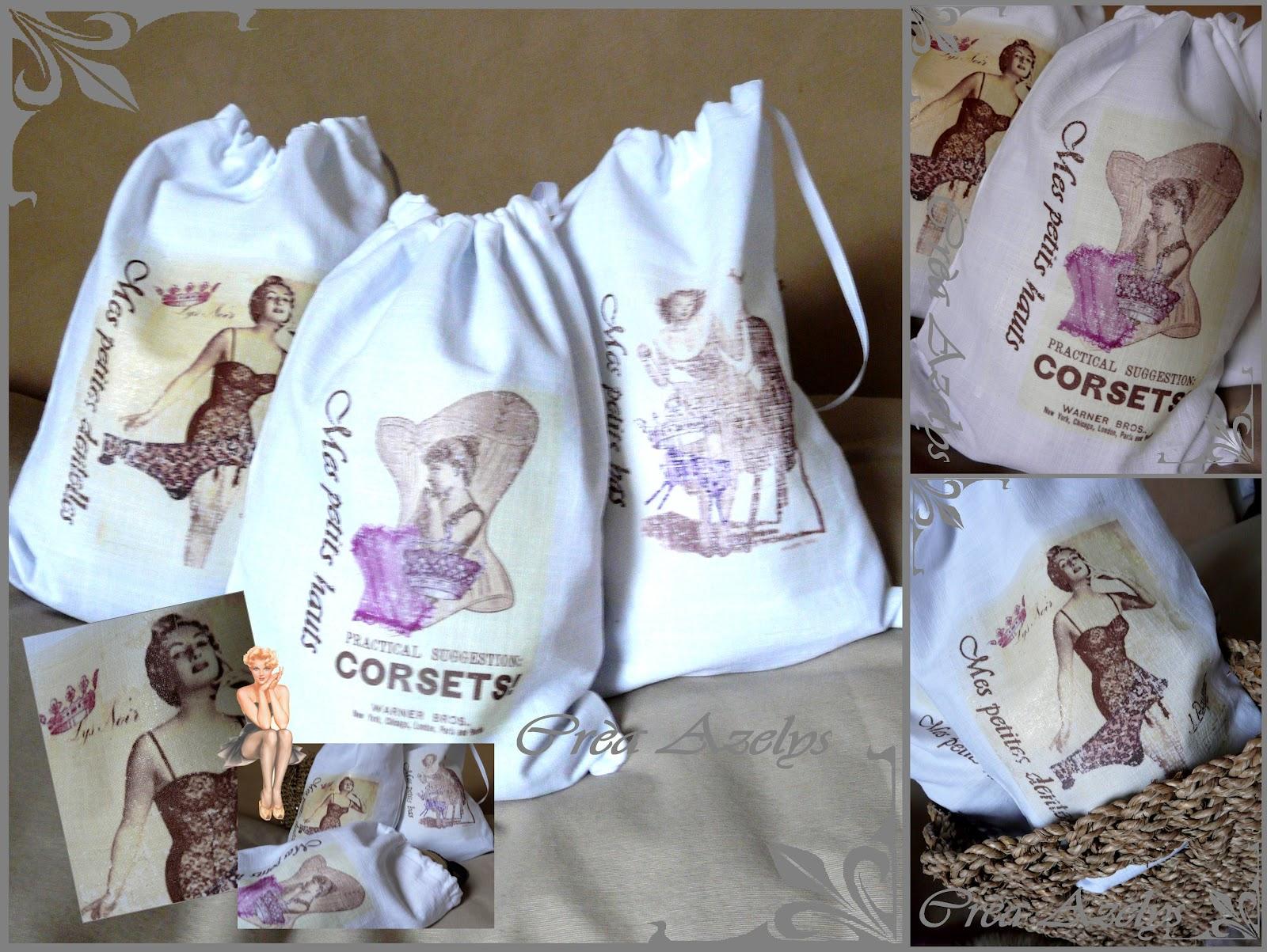 Bien-aimé Le petit monde d'Azelys: Pochette lingerie - Tuto - Printable ZE94