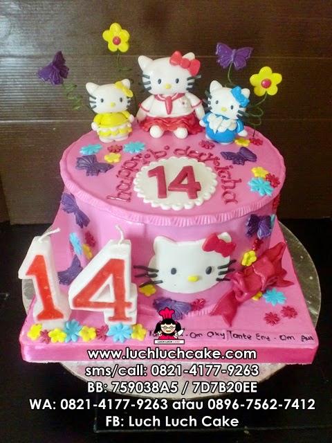 Kue Tart Hello Kitty Pink Lucu Daerah Surabaya - Sidoarjo