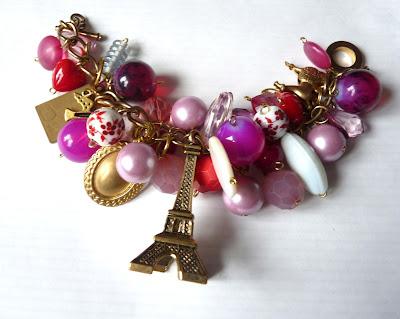 paris with love bracelet one off piece
