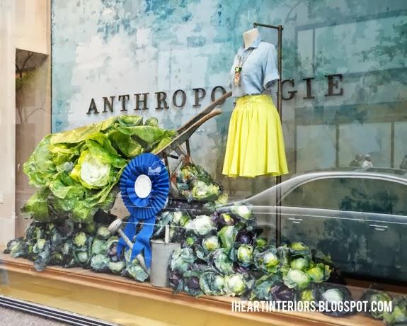 I heart interiors anthropologie window display summer for Garden display ideas