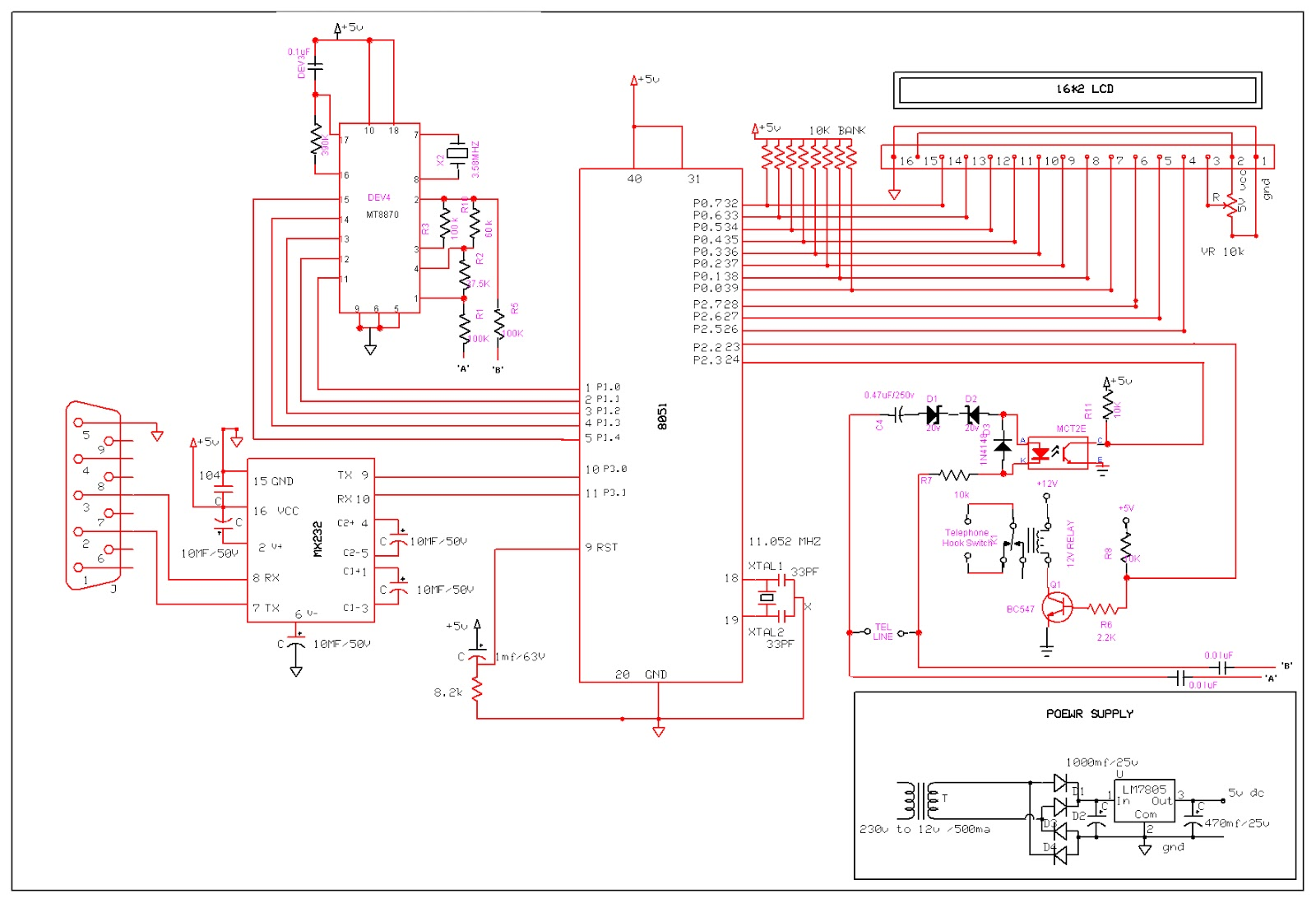 Ivrs Interactive Voice Response System Project Final Year Circuit Diagram 4