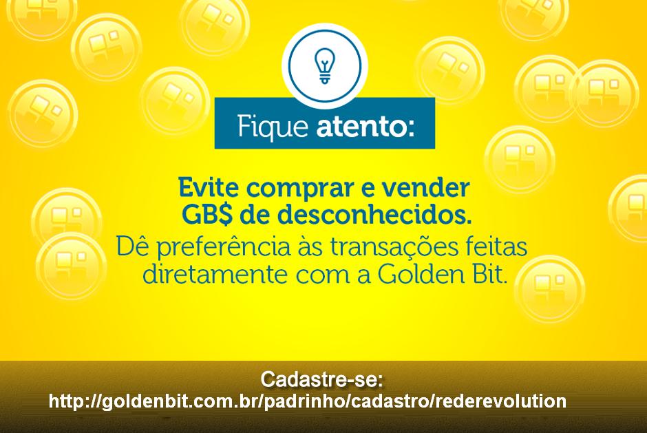 Transferência de Golden Bits realizadas com terceiros tenha cuidado !