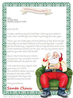 how to receive a letter from santa