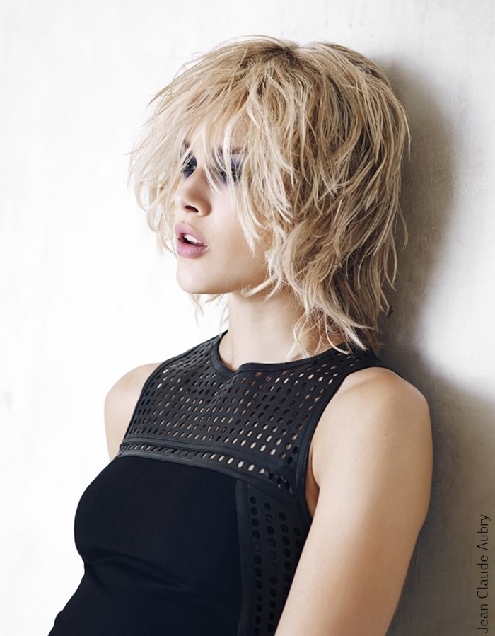 Medium length bob-like haircut, hairstyle,blonde