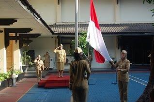 Upacara Bendera BKD Jateng