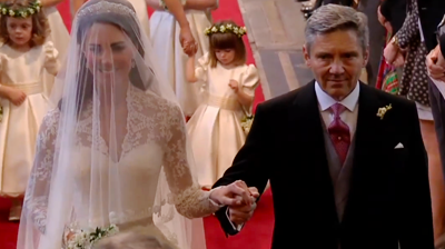 Michael Middleton walks his daughter down the isle. YouTube 2011.