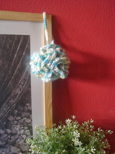 Free Pattern Crochet Coral Bath Puff Modelo Grtis Puff Coral