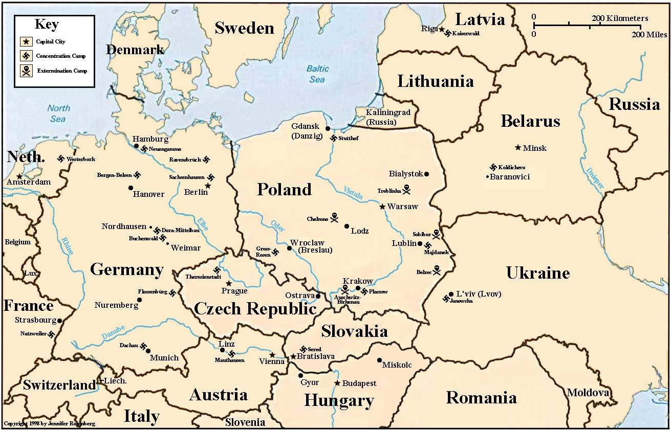 The major concentration and extermination camps of world war ii