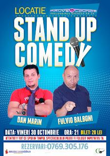 Stand-Up Comedy Vineri 30 Octombrie Bucuresti