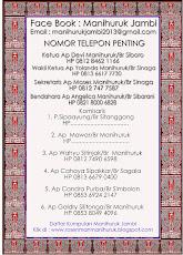 TELEPON PENGURUS MANIHURUK JAMBI