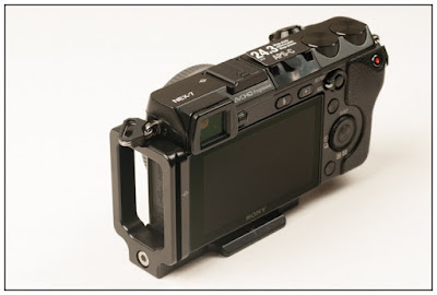 Hejnar PHOTO Mod L Bracket on SONY NEX-7- back view