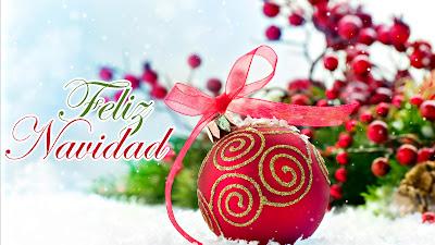 Imágenes navideñas para compartir con esferas y mensajes