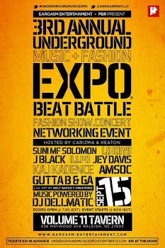 UNDERGROUND MUSIC EXPO X 9/15 X RALEIGH