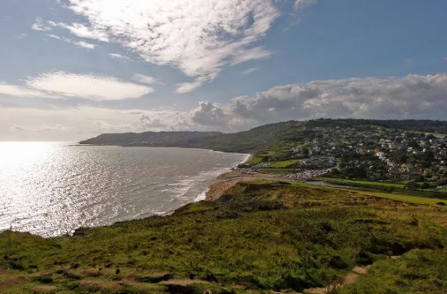 Charmouth, Lyme Regis, view, Dorset, coast
