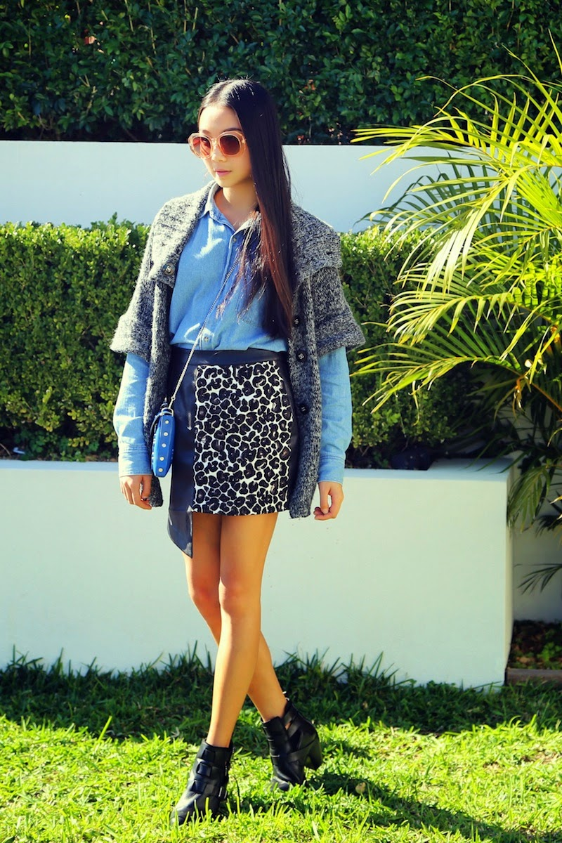 Shilla, American Apparel, Denim, Street Style, leopard print, Teenvogue, neighborhoodies,