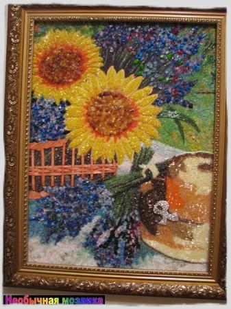 Мозаика из бисера на клею 66