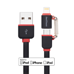 [Apple MFi Certified] USBLink (3.3 ft) Lightning Duo 2-in-1 Sync and Charge Cable with Lightning & Micro USB Connectors by Swiftrans for iPhone 6s Plus / 6 Plus, iPad Pro, Air 2 More and Androi