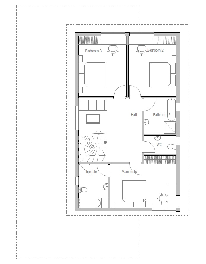 Contemporary house plans modern house plan to narrow lot for Narrow home plans